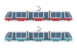 Nowożytny tramwaj odizolowywający na białym tle Fotografia Royalty Free