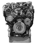 Nowożytny Turbo oleju napędowego ciężarówki silnik Obrazy Royalty Free
