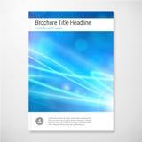 Nowożytny Wektorowy abstrakcjonistyczny światło broszurki raportu projekta szablon Zdjęcie Royalty Free