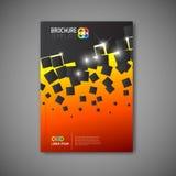 Nowożytny Wektorowy abstrakcjonistyczny broszurka raportu projekta szablon Obraz Royalty Free