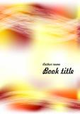 Nowożytny wektorowy abstrakcjonistyczny broszurki, książki, ulotki projekta szablon z lub lub koloru żółtego, pomarańcze i czerwi Fotografia Stock