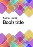 Nowożytny wektorowy abstrakcjonistyczny broszurki, książki, ulotki projekta szablon z tęczy przejrzysty pokrywać się/obciosuje Zdjęcie Royalty Free