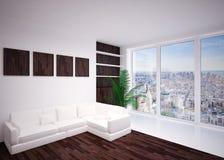 Nowożytny wewnętrzny żywy pokój, hol Zdjęcia Royalty Free