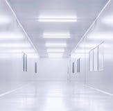 Nowożytny wewnętrzny laboratorium naukowego tło Obrazy Stock