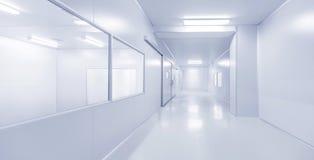 Nowożytny wewnętrzny nauki fabryki lub laboratorium tło Zdjęcie Royalty Free