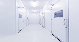 Nowożytny wewnętrzny nauki fabryki lub laboratorium tło Zdjęcie Stock