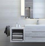 Nowożytny wewnętrzny projekt łazienka Obraz Stock