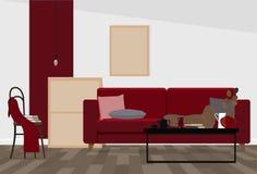 Nowożytny wewnętrzny projekt żywa powierzchnia biurowa w przemysłowym stylu lub pokój zdjęcia royalty free