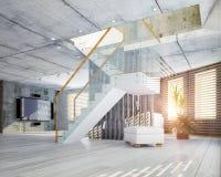 nowożytny wewnętrzny projekta loft Zdjęcia Royalty Free