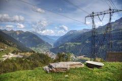 Nowożytny widok z lotu ptaka szwajcarscy alps zdjęcia stock