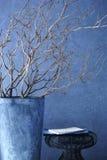 Nowożytny wnętrze rozgałęzia się przed betonową ścianą Obraz Royalty Free