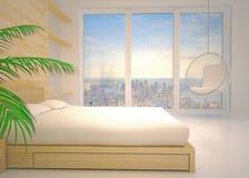 Nowożytny wnętrze sypialnia ilustracja wektor