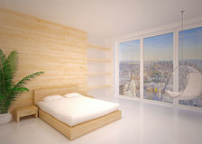 Nowożytny wnętrze sypialnia royalty ilustracja