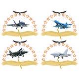 Nowożytny wojskowy aircraft-1 Obraz Royalty Free