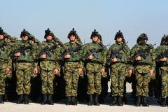 Nowożytny wyposażenie serb Orężny Forces-4 Obraz Royalty Free