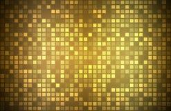 Nowożytny złoty abstrakcjonistyczny tło z przejrzystymi kwadratami Obrazy Royalty Free