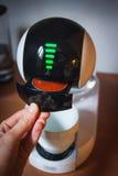 Nowożytny zaawansowany technicznie kawowy maszynowy projekt touchscreen fotografia royalty free