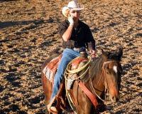 Nowożytny Zachodni kowboj fotografia stock