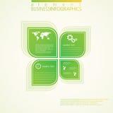 Nowożytny zielony infographic projekt również zwrócić corel ilustracji wektora Obrazy Stock