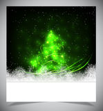 Nowożytna abstrakcjonistyczna choinka, eps 10 Obraz Royalty Free