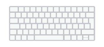 Nowo?ytna aluminiowa komputerowa klawiatura odizolowywaj?ca na bia?ym tle r?wnie? zwr?ci? corel ilustracji wektora royalty ilustracja