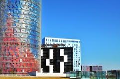 Nowożytna architektura Barcelona, Hiszpania Zdjęcia Stock