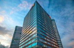 Nowożytna architektura biznesowy miasto Biljlmer arena Amsterdam - holandie Obraz Stock