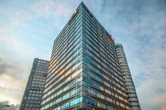 Nowożytna architektura biznesowy miasto Biljlmer arena Amsterdam - holandie Obrazy Royalty Free