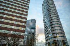 Nowożytna architektura biznesowy miasto Biljlmer arena Amsterdam - holandie Fotografia Stock