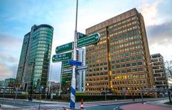 Nowożytna architektura biznesowy miasto Biljlmer arena Amsterdam - holandie Obraz Royalty Free