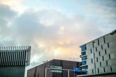 Nowożytna architektura biznesowy miasto Biljlmer arena Amsterdam - holandie Zdjęcia Stock