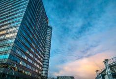 Nowożytna architektura biznesowy miasto Biljlmer arena Amsterdam - holandie Zdjęcie Royalty Free