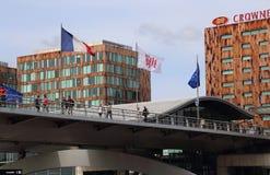 Nowożytna architektura Lille Europa stacja kolejowa, Francja Obrazy Stock