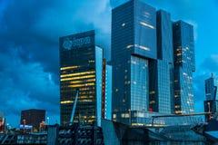 Nowożytna architektura Rotterdam Zdjęcia Stock