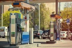 Nowożytna benzynowa stacja. Zdjęcie Royalty Free