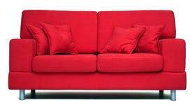 nowożytna czerwona kanapa fotografia royalty free