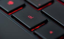 Nowożytna czerwona klawiatura Obrazy Stock