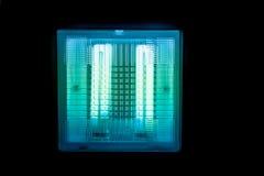 Nowożytna Fluorescencyjna lampa na suficie Fotografia Royalty Free