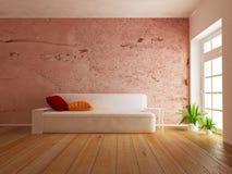 Nowożytna kanapa w pokoju, 3d Zdjęcia Royalty Free