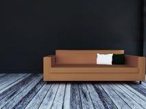 Nowożytna kanapa w pokoju, 3d ilustracji