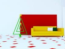 Nowożytna kanapa w pokoju, 3d zdjęcie stock