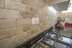 Nowożytna kuchnia w luksusowym mieszkaniu Fotografia Stock