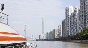 Nowożytna linia horyzontu Guangzhou Obrazy Stock