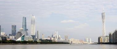 Nowożytna linia horyzontu Guangzhou, Chiny Fotografia Stock
