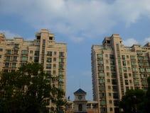 Nowożytna lokalowa budowa w Szanghaj Zdjęcia Stock