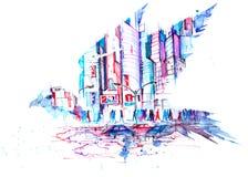 Nowożytna metropolia ilustracji