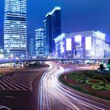 nowożytna miasto noc Shanghai Zdjęcie Royalty Free