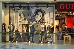 Nowożytna moda sklepu gablota wystawowa Obrazy Stock