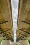 Nowożytna promienia mosta struktura Zdjęcia Stock