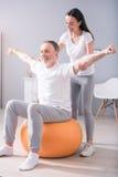 Nowożytna rehabilitaci fizjoterapia Zdjęcia Stock